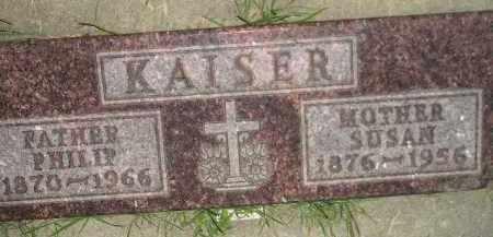 KAISER, SUSAN - Miner County, South Dakota | SUSAN KAISER - South Dakota Gravestone Photos