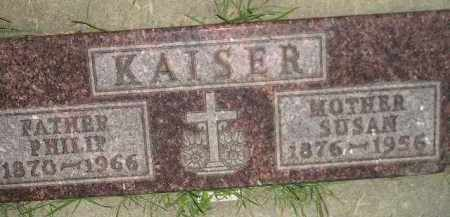 KAISER, SUSAN - Miner County, South Dakota | SUSAN KAISER - South Dakota Gravestone Photos