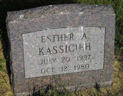 KASSICIEH, ESTHER A. - Miner County, South Dakota | ESTHER A. KASSICIEH - South Dakota Gravestone Photos