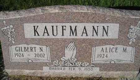KAUFMANN, ALICE M. - Miner County, South Dakota | ALICE M. KAUFMANN - South Dakota Gravestone Photos