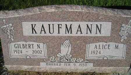 KAUFMANN, ALICE M. - Miner County, South Dakota | ALICE M. KAUFMANN - South Dakota Gravestone Photos