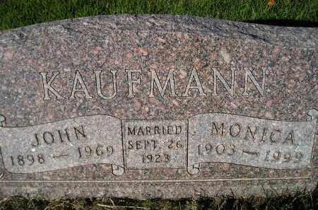 KAUFMANN, MONICA - Miner County, South Dakota | MONICA KAUFMANN - South Dakota Gravestone Photos