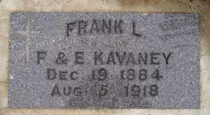 KAVANEY, FRANK L. - Miner County, South Dakota | FRANK L. KAVANEY - South Dakota Gravestone Photos