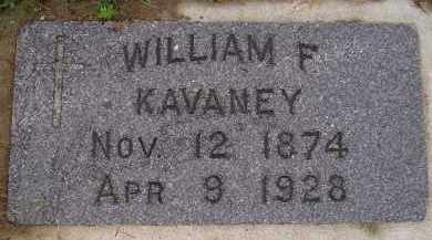 KAVANEY, WILLIAM F. - Miner County, South Dakota | WILLIAM F. KAVANEY - South Dakota Gravestone Photos