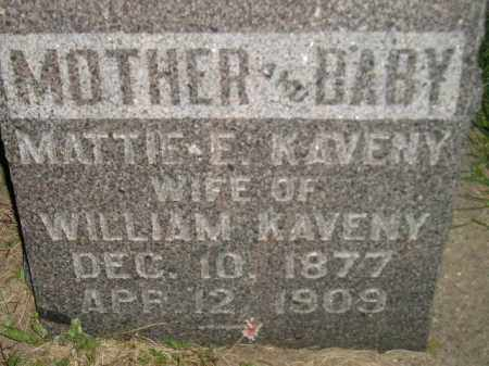 KAVENY, MATTIE E. - Miner County, South Dakota | MATTIE E. KAVENY - South Dakota Gravestone Photos