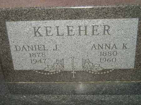 KELEHER, DANIEL J. - Miner County, South Dakota | DANIEL J. KELEHER - South Dakota Gravestone Photos