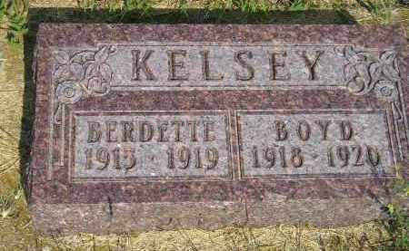 KELSEY, BERDETTE - Miner County, South Dakota | BERDETTE KELSEY - South Dakota Gravestone Photos