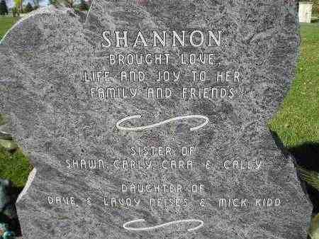 KIDD, SHANNON (REAR OF STONE) - Miner County, South Dakota | SHANNON (REAR OF STONE) KIDD - South Dakota Gravestone Photos