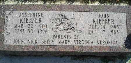KIEFFER, JOSEPHINE - Miner County, South Dakota | JOSEPHINE KIEFFER - South Dakota Gravestone Photos