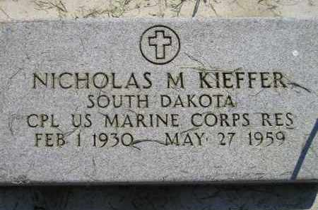 KIEFFER, NICHOLAS M. - Miner County, South Dakota | NICHOLAS M. KIEFFER - South Dakota Gravestone Photos