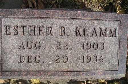 KLAMM, ESTHER B. - Miner County, South Dakota   ESTHER B. KLAMM - South Dakota Gravestone Photos