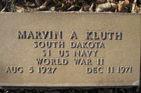KLUTH, MARVIN A. - Miner County, South Dakota | MARVIN A. KLUTH - South Dakota Gravestone Photos