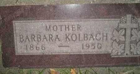 KOLBACH, BARBARA - Miner County, South Dakota | BARBARA KOLBACH - South Dakota Gravestone Photos