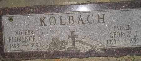KOLBACH, FLORENCE E. - Miner County, South Dakota | FLORENCE E. KOLBACH - South Dakota Gravestone Photos