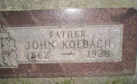 KOLBACH, JOHN - Miner County, South Dakota | JOHN KOLBACH - South Dakota Gravestone Photos