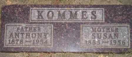 KOMMES, ANTHONY - Miner County, South Dakota   ANTHONY KOMMES - South Dakota Gravestone Photos