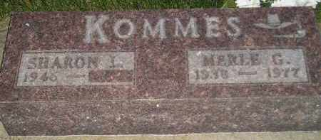 KOMMES, SHARON L. - Miner County, South Dakota | SHARON L. KOMMES - South Dakota Gravestone Photos