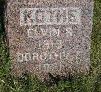 KOTHE, ELVIN R. - Miner County, South Dakota   ELVIN R. KOTHE - South Dakota Gravestone Photos