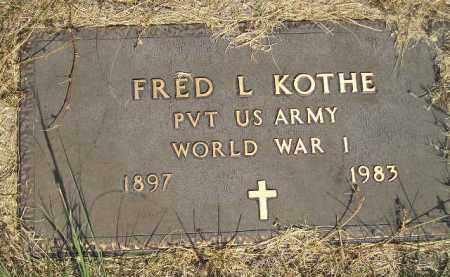 KOTHE, FRED L. (WW I) - Miner County, South Dakota   FRED L. (WW I) KOTHE - South Dakota Gravestone Photos