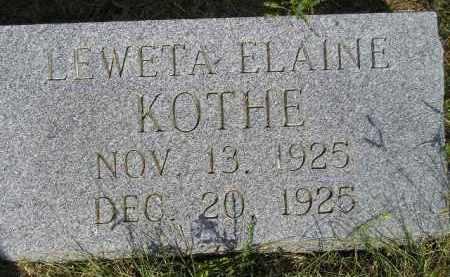 KOTHE, LEWETA ELAINE - Miner County, South Dakota | LEWETA ELAINE KOTHE - South Dakota Gravestone Photos
