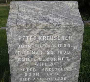 KREUSCHER, PETER - Miner County, South Dakota | PETER KREUSCHER - South Dakota Gravestone Photos
