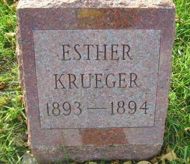 KRUEGER, ESTHER - Miner County, South Dakota | ESTHER KRUEGER - South Dakota Gravestone Photos