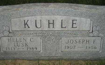 KUHLE, JOSEPH F. - Miner County, South Dakota | JOSEPH F. KUHLE - South Dakota Gravestone Photos