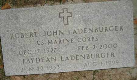 LADENBURGER, ROBERT JOHN - Miner County, South Dakota | ROBERT JOHN LADENBURGER - South Dakota Gravestone Photos