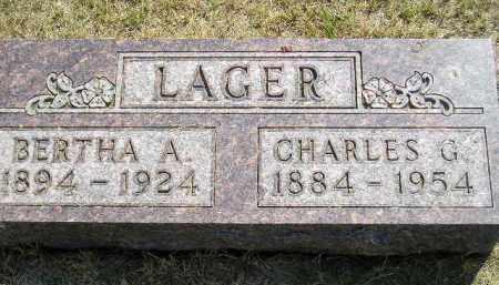 LAGER, BERTHA A. - Miner County, South Dakota | BERTHA A. LAGER - South Dakota Gravestone Photos