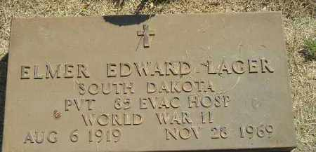 LAGER, ELMER EDWARD (WW II) - Miner County, South Dakota | ELMER EDWARD (WW II) LAGER - South Dakota Gravestone Photos