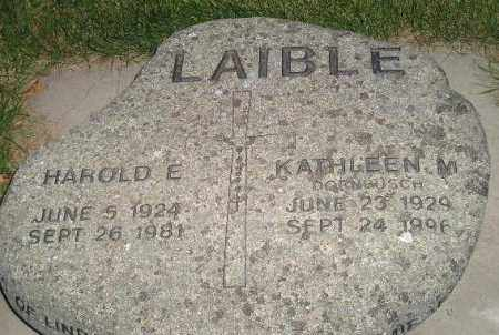 LAIBLE, KATHLEEN M. - Miner County, South Dakota | KATHLEEN M. LAIBLE - South Dakota Gravestone Photos
