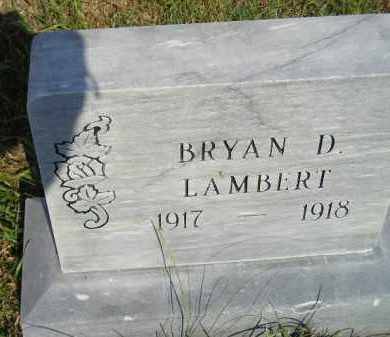 LAMBERT, BRYAN DAYTON - Miner County, South Dakota | BRYAN DAYTON LAMBERT - South Dakota Gravestone Photos