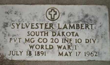 LAMBERT, SYLVESTER - Miner County, South Dakota | SYLVESTER LAMBERT - South Dakota Gravestone Photos