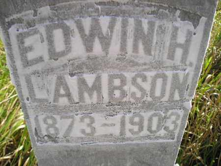 LAMBSON, EDWIN H. - Miner County, South Dakota | EDWIN H. LAMBSON - South Dakota Gravestone Photos