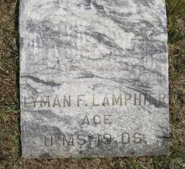 LAMPHIER, LYMAN F. - Miner County, South Dakota   LYMAN F. LAMPHIER - South Dakota Gravestone Photos