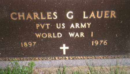 LAUER, CHARLES G. (WW I) - Miner County, South Dakota | CHARLES G. (WW I) LAUER - South Dakota Gravestone Photos
