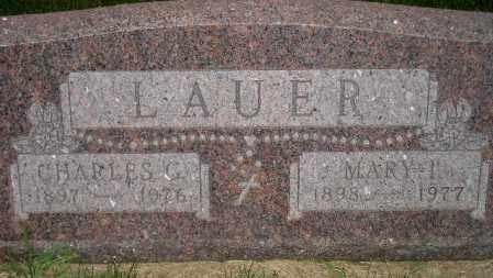 LAUER, CHARLES G. - Miner County, South Dakota   CHARLES G. LAUER - South Dakota Gravestone Photos