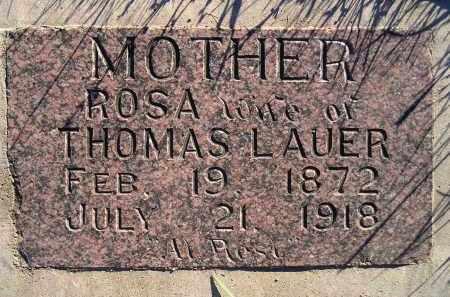 LAUER, ROSA - Miner County, South Dakota   ROSA LAUER - South Dakota Gravestone Photos