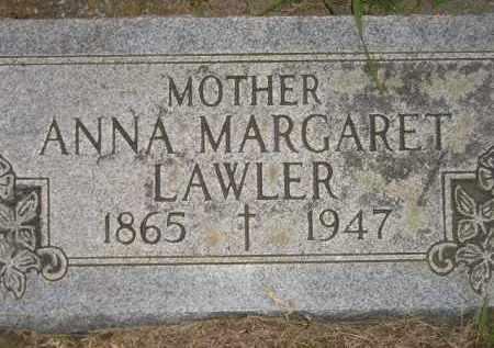 LAWLER, ANNA MARGARET - Miner County, South Dakota | ANNA MARGARET LAWLER - South Dakota Gravestone Photos