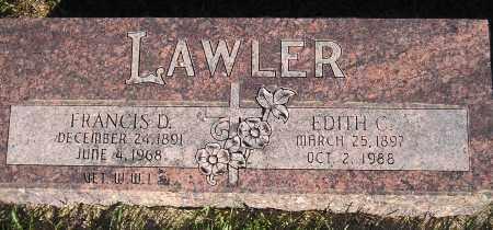 LAWLER, FRANCIS D. - Miner County, South Dakota | FRANCIS D. LAWLER - South Dakota Gravestone Photos