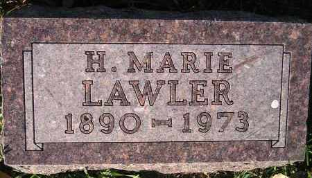 LAWLER, H. MARIE - Miner County, South Dakota | H. MARIE LAWLER - South Dakota Gravestone Photos
