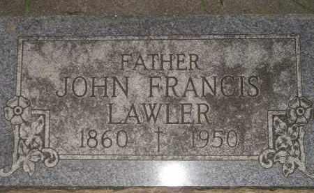 LAWLER, JOHN FRANCIS - Miner County, South Dakota   JOHN FRANCIS LAWLER - South Dakota Gravestone Photos