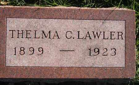 LAWLER, THELMA C. - Miner County, South Dakota | THELMA C. LAWLER - South Dakota Gravestone Photos