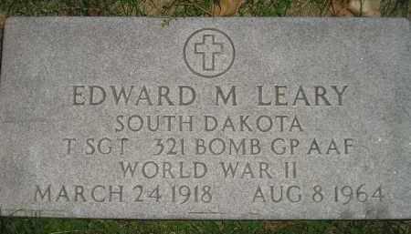 LEARY, EDWARD M. - Miner County, South Dakota | EDWARD M. LEARY - South Dakota Gravestone Photos