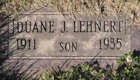 LEHNERT, DUANE J. - Miner County, South Dakota   DUANE J. LEHNERT - South Dakota Gravestone Photos