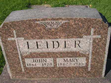 LEIDER, JOHN - Miner County, South Dakota | JOHN LEIDER - South Dakota Gravestone Photos