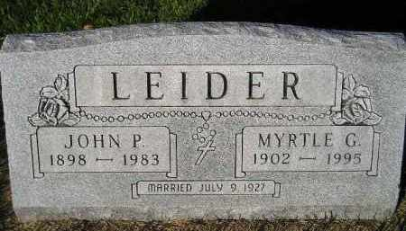 LEIDER, MYRTLE G. - Miner County, South Dakota | MYRTLE G. LEIDER - South Dakota Gravestone Photos