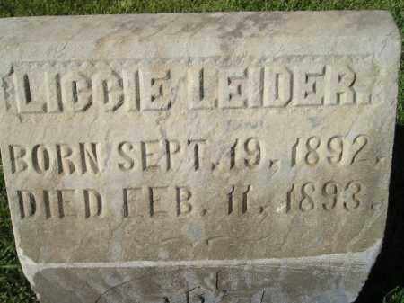 LEIDER, LICCIE - Miner County, South Dakota | LICCIE LEIDER - South Dakota Gravestone Photos