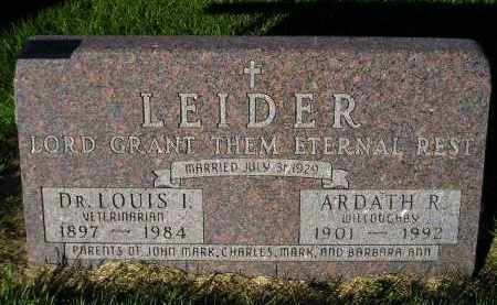LEIDER, LOUIS I. (DVM) - Miner County, South Dakota | LOUIS I. (DVM) LEIDER - South Dakota Gravestone Photos