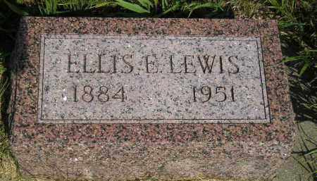 LEWIS, ELLIS E. - Miner County, South Dakota | ELLIS E. LEWIS - South Dakota Gravestone Photos